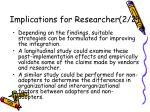 implications for researcher 2 2