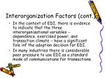 interorganization factors cont