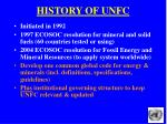history of unfc