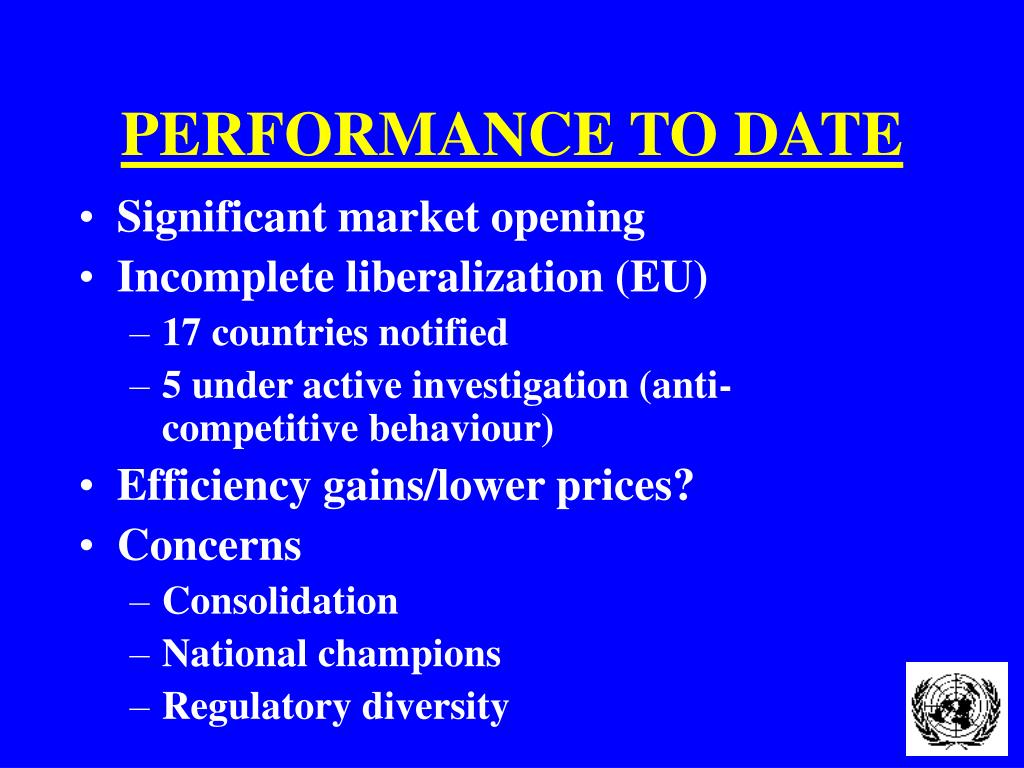PERFORMANCE TO DATE