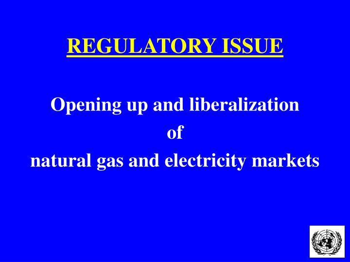 Regulatory issue