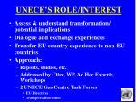 unece s role interest