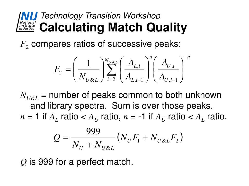 Calculating Match Quality