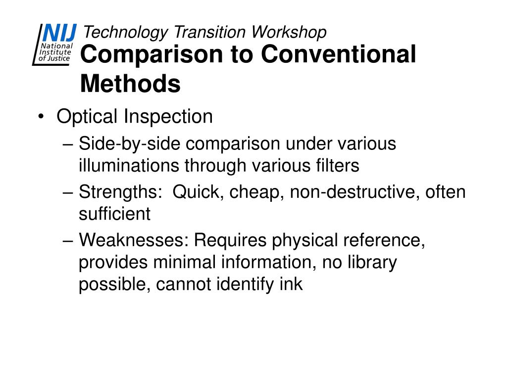 Comparison to Conventional Methods