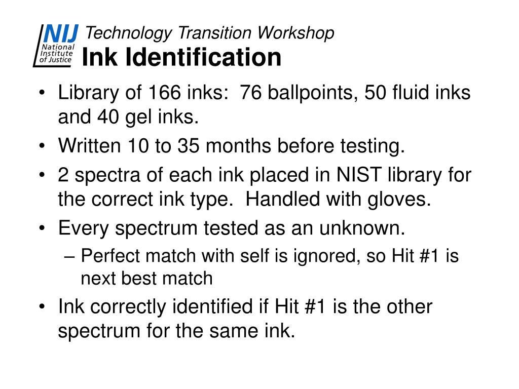 Ink Identification
