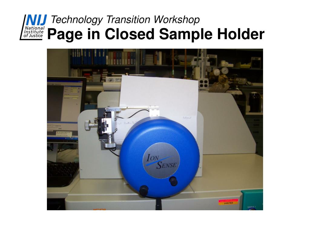 Page in Closed Sample Holder