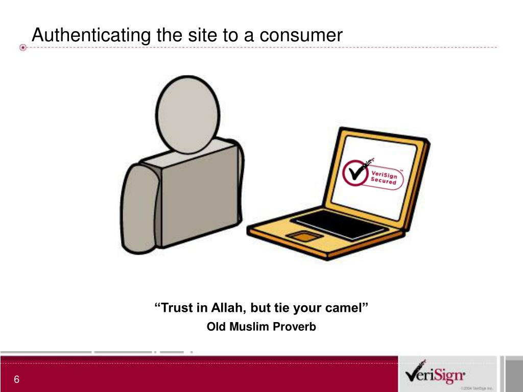 Authenticating the site to a consumer