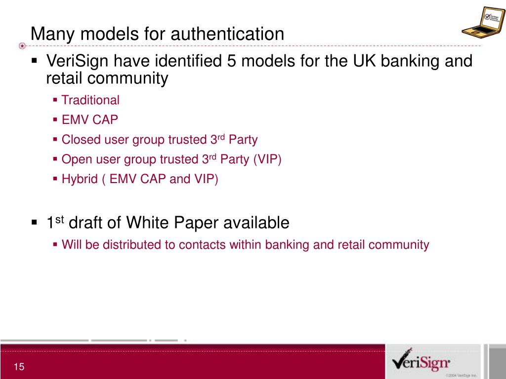 Many models for authentication