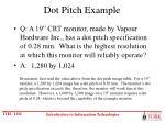 dot pitch example