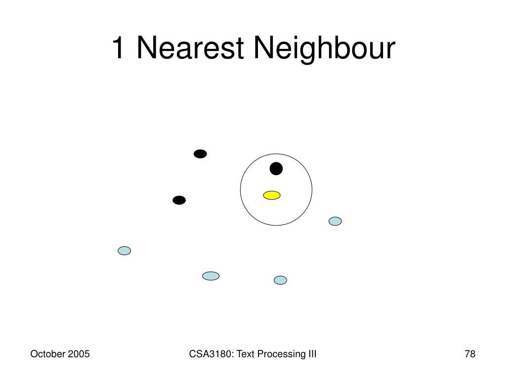 1 Nearest Neighbour