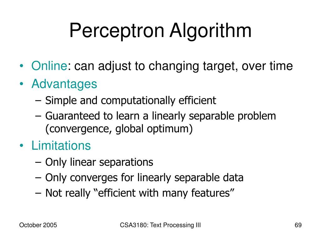 Perceptron Algorithm