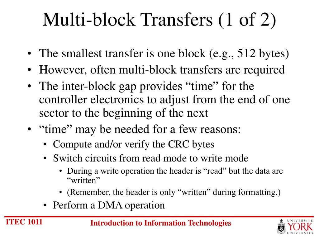 Multi-block Transfers (1 of 2)