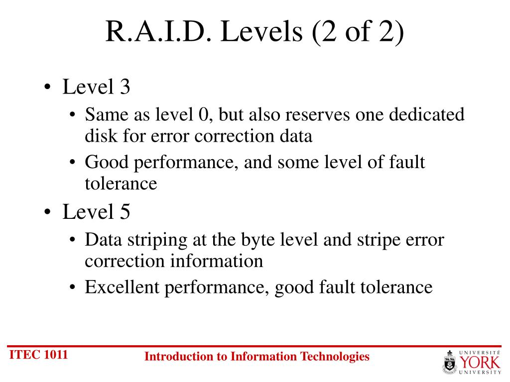 R.A.I.D. Levels (2 of 2)