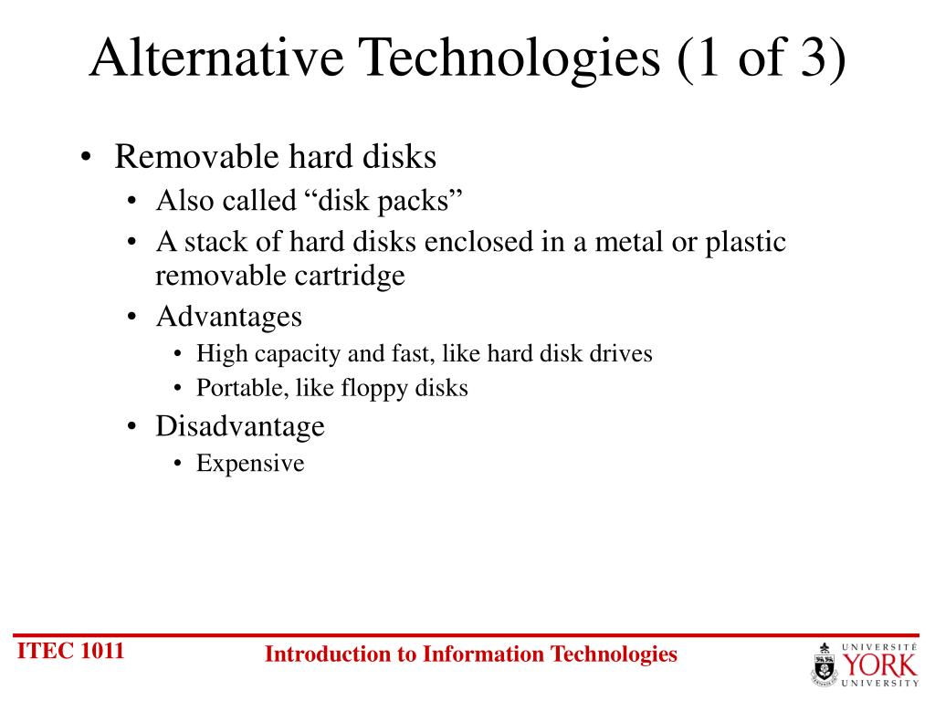 Alternative Technologies (1 of 3)