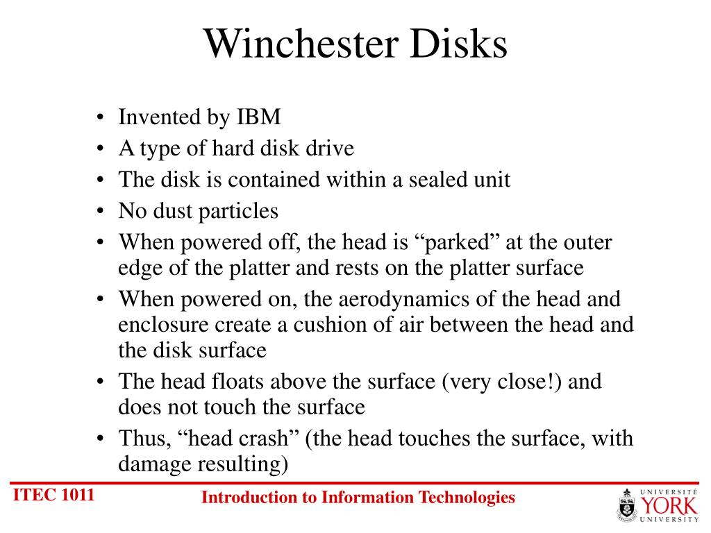 Winchester Disks