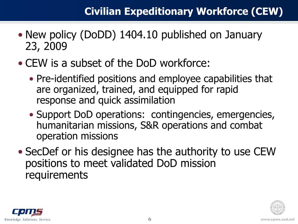 Civilian Expeditionary Workforce (CEW)