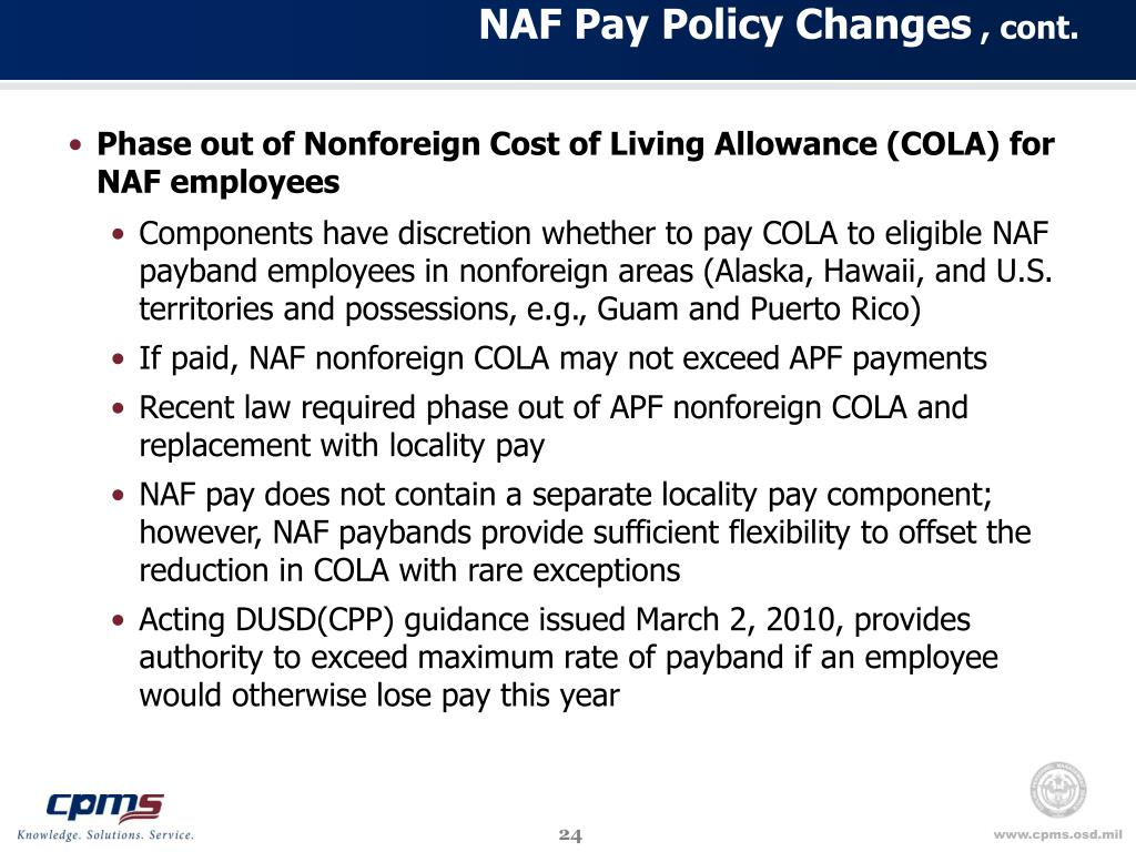 NAF Pay Policy Changes