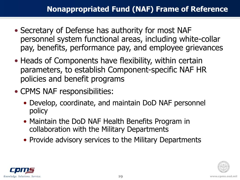 Nonappropriated Fund (NAF) Frame of Reference