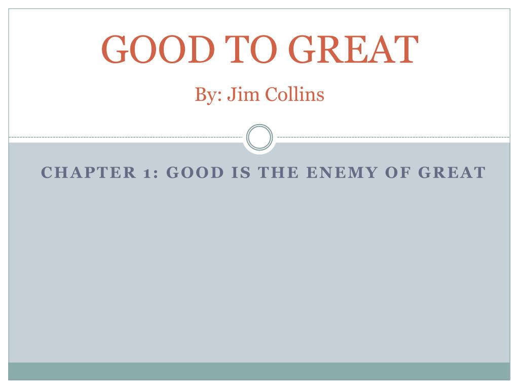 good to great by jim collins l.