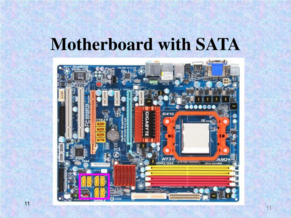 Motherboard with SATA