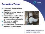 contractors tender