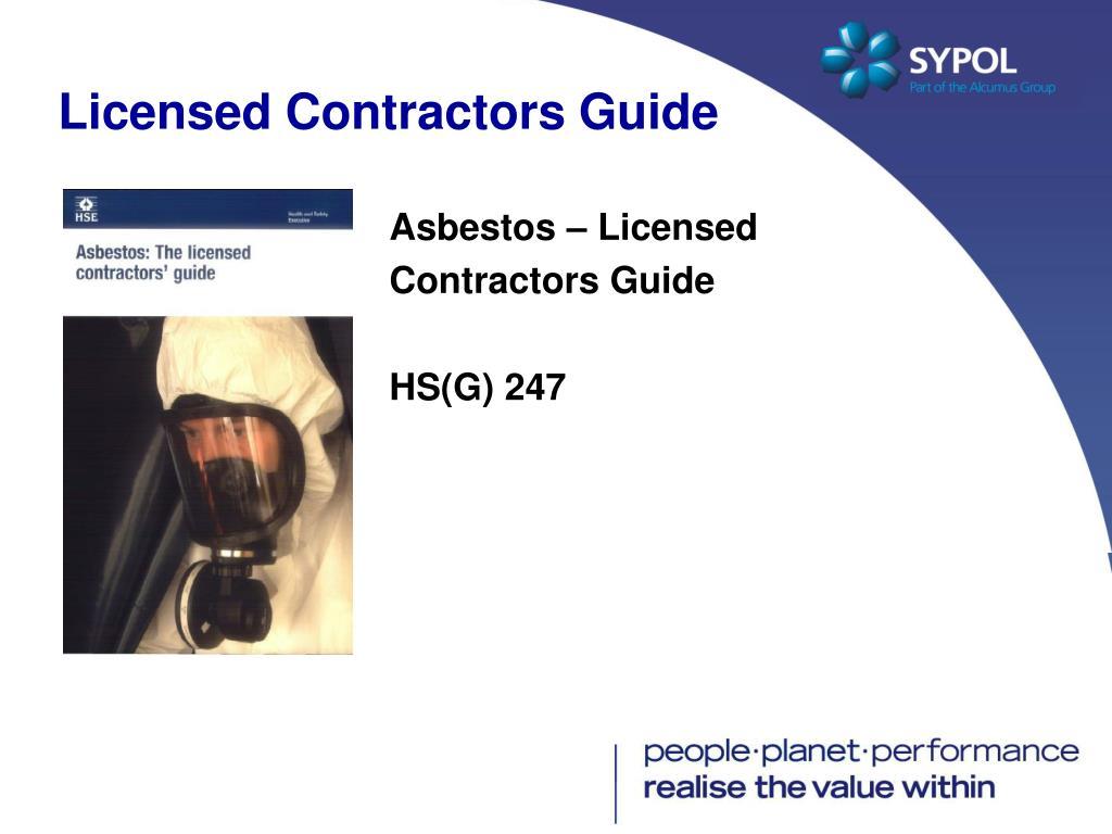 Licensed Contractors Guide
