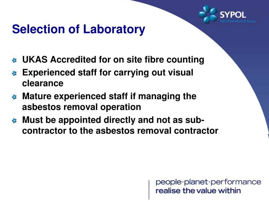 Selection of Laboratory