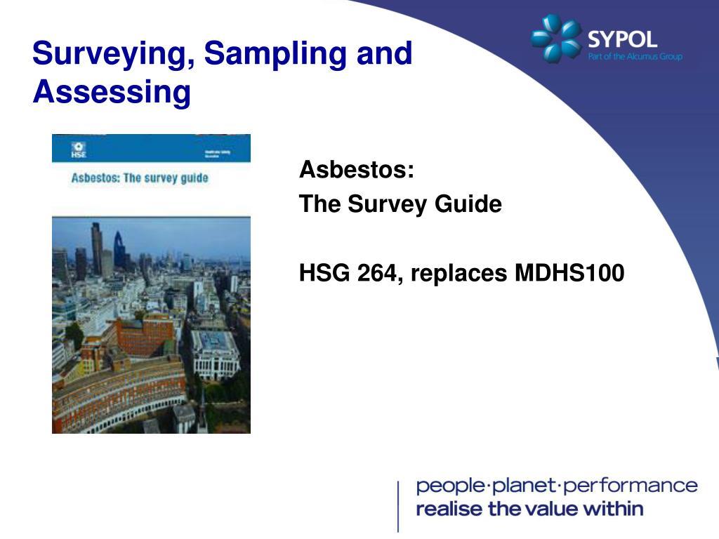 Surveying, Sampling and