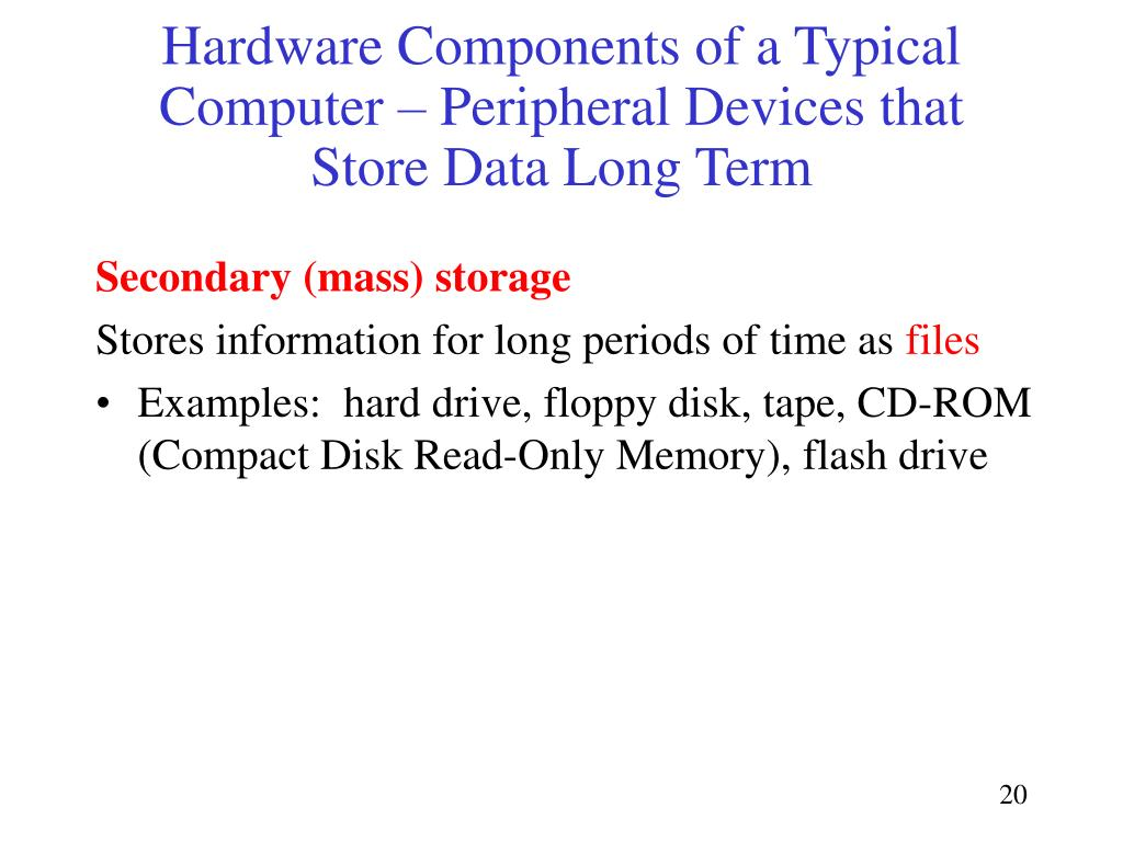 Hardware Components of a Typical