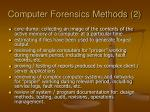 computer forensics methods 2