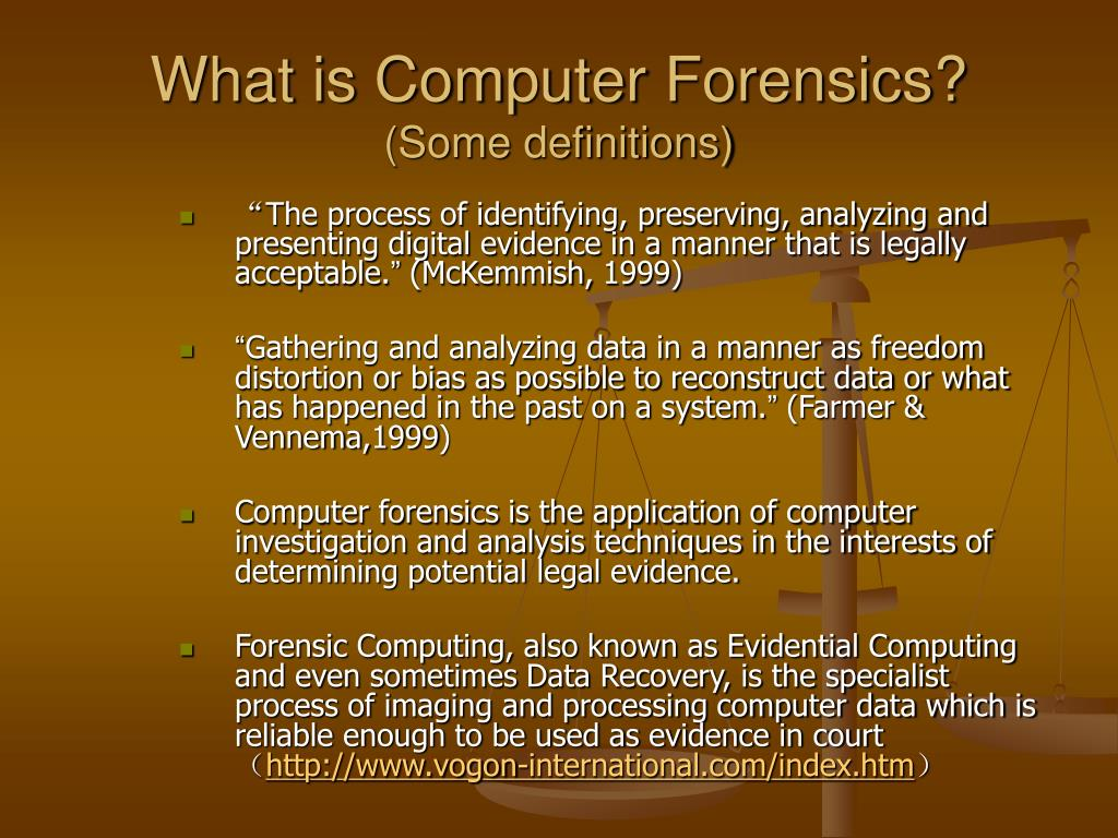 what is computer forensics some definitions l.