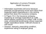 application of lemons principle health insurance