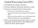central processing unit cpu