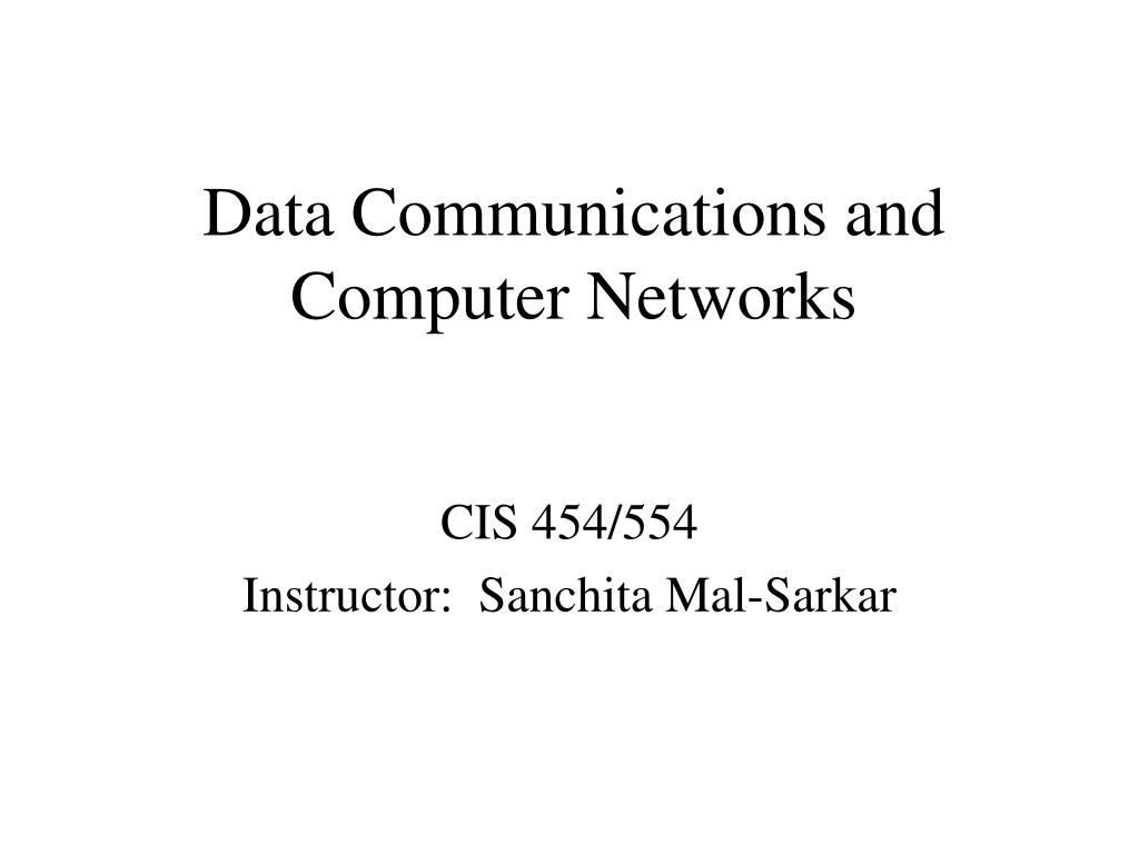 data communications and computer networks l.