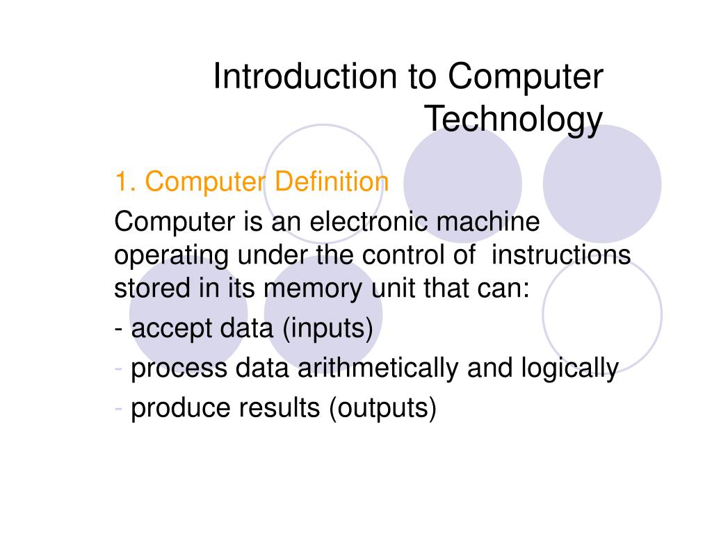introduction to computer technology l.