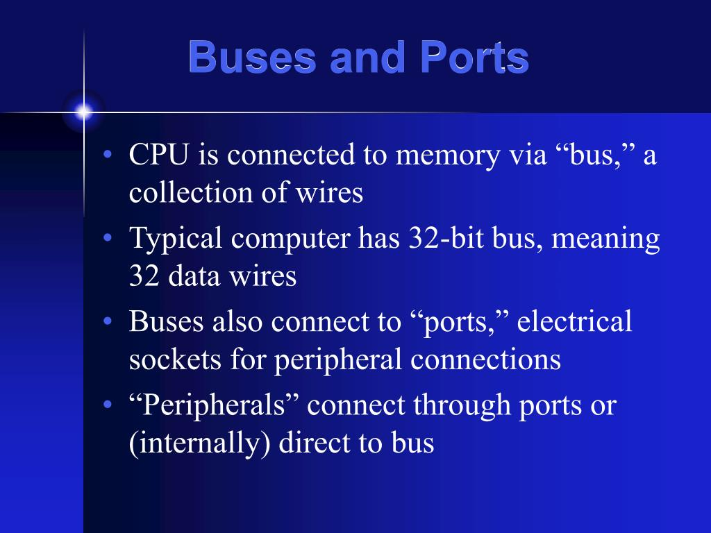 Buses and Ports