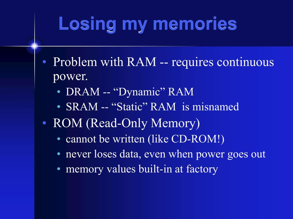 Losing my memories