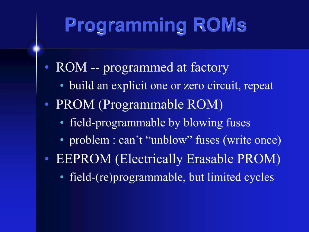 Programming ROMs
