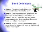 band definitions