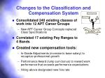 changes to the classification and compensation system