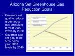 arizona set greenhouse gas reduction goals