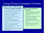 energy efficiency strategies policies