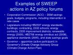 examples of sweep actions in az policy forums