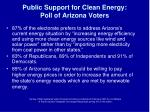 public support for clean energy poll of arizona voters