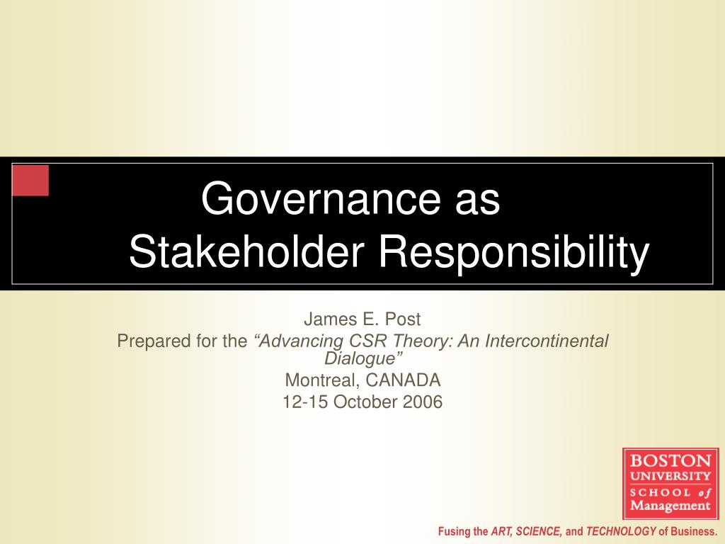 governance as stakeholder responsibility