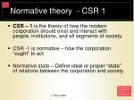 normative theory csr 1