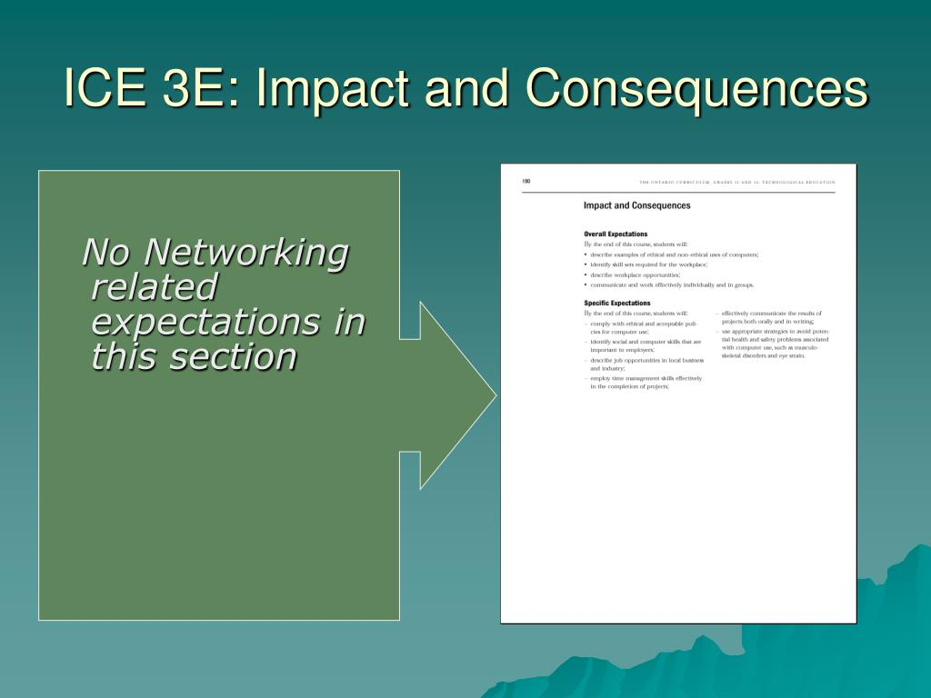 ICE 3E: Impact and Consequences