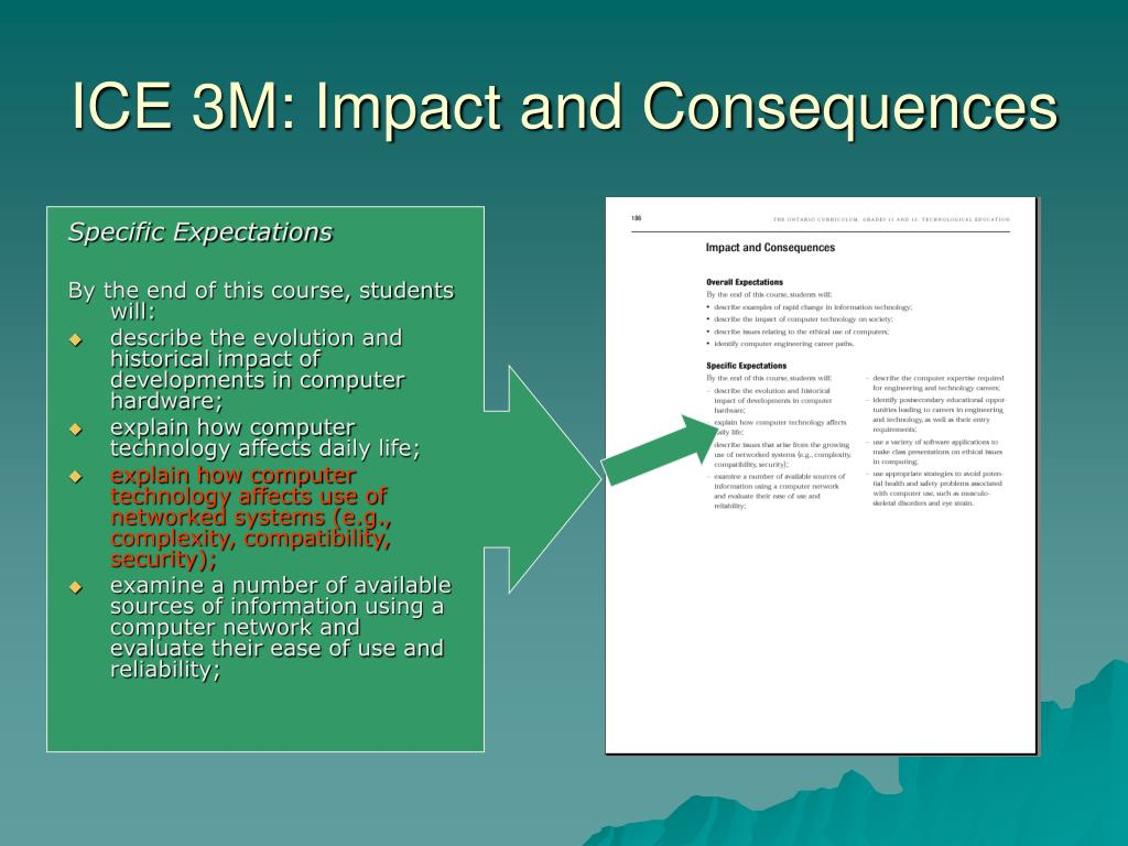 ICE 3M: Impact and Consequences