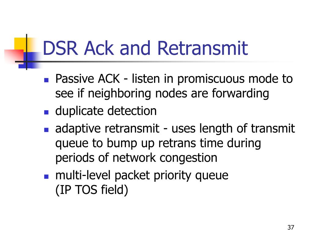 DSR Ack and Retransmit