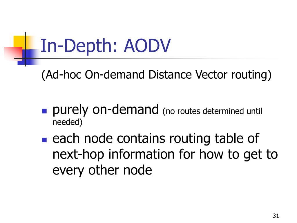 In-Depth: AODV